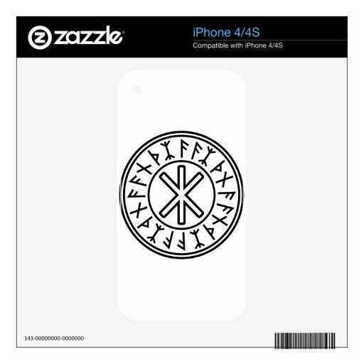 La protección No.2 (negro) de Odin Calcomanías Para El iPhone 4