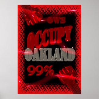 La protesta de OWS OCUPA Oakland Wall Street el 99 Póster