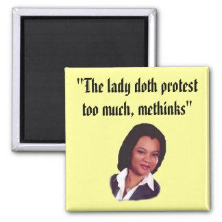 La protesta del doth de la señora… iman para frigorífico