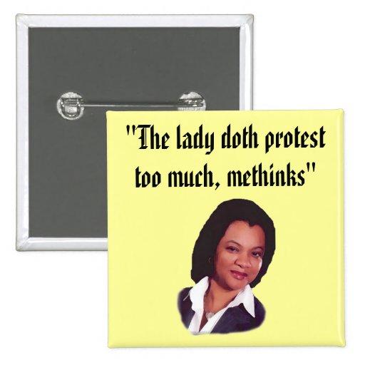 La protesta del doth de la señora… pin