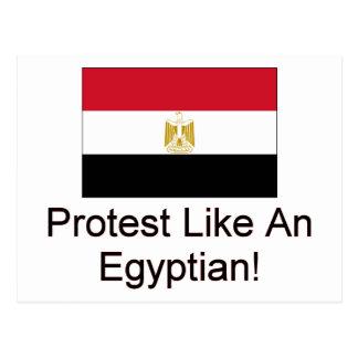 La protesta tiene gusto de un egipcio tarjetas postales