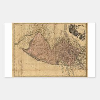 La provincia del mapa de New Jersey (1777) Pegatina Rectangular