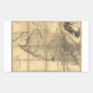 La provincia del mapa de New Jersey (1778) Pegatina Rectangular