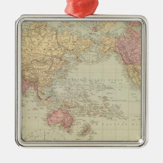 La proyección de Mercator del mundo 2 Ornamentos De Navidad