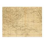 La proyección de Mercator del mundo Postales