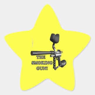 La prueba clara pegatina en forma de estrella
