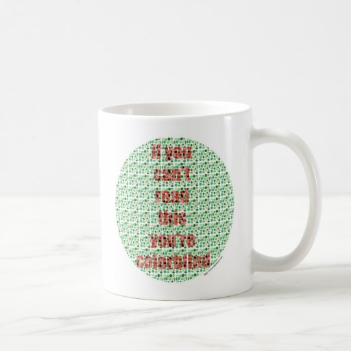 La prueba daltónica taza de café