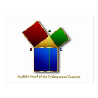 La prueba de Euclid del teorema pitagórico Tarjetas Postales
