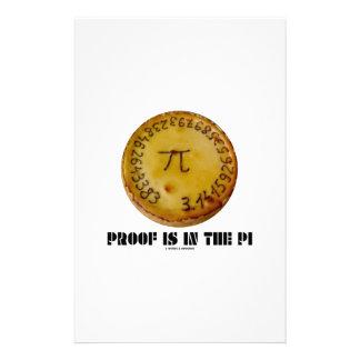 La prueba está en el pi (los pi en la empanada  papeleria