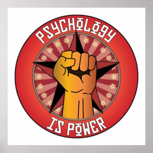La psicología es poder póster