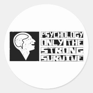 La psicología sobrevive pegatina redonda