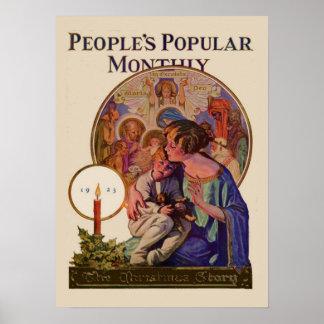 La publicación mensual popular 1923 de la gente de poster