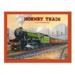 La publicidad del vintage, tren de Hornby, miniatu Postales