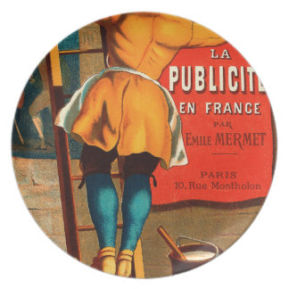 La publicité en France par Emile Mermet Dinner Plate
