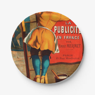 La publicité en France par Emile Mermet Paper Plate