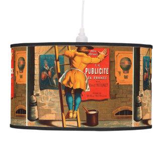 La publicité en France par Emile Mermet Pendant Lamp