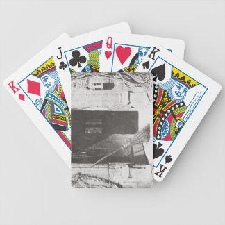 La puerta abierta, marzo de 1843 (foto de b/w) baraja cartas de poker