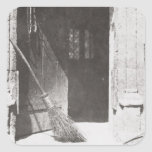 La puerta abierta, marzo de 1843 (foto de b/w) pegatinas cuadradas