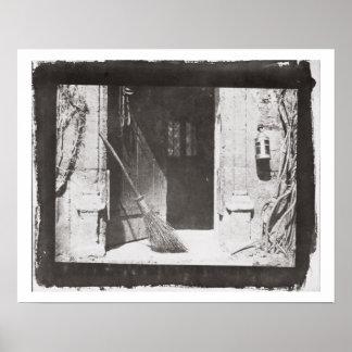 La puerta abierta, marzo de 1843 (foto de b/w) póster