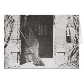 La puerta abierta, marzo de 1843 (foto de b/w) tarjeta de felicitación