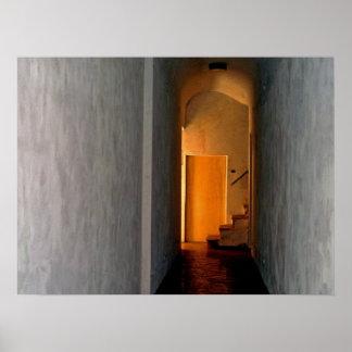 La puerta amarilla Italia escénica Póster