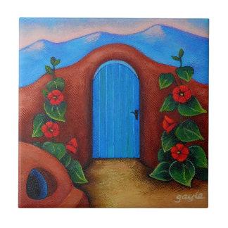 La Puerta Azul Azulejo Cerámica
