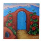 La Puerta Azul Azulejo Cuadrado Pequeño