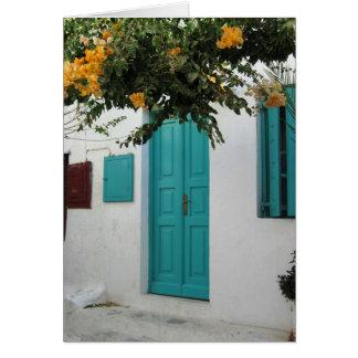 La puerta azul tarjetón