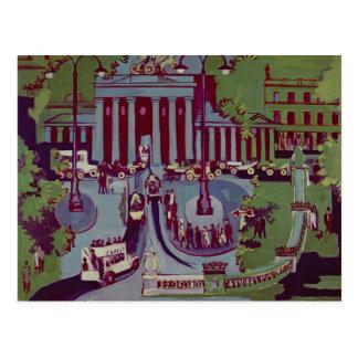 La puerta de Brandeburgo, Berlín, 1929 Tarjetas Postales