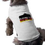 La puerta de Brandeburgo en Berlín (Alemania) Playera Sin Mangas Para Perro