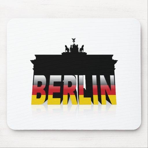 La puerta de Brandeburgo en Berlín (Alemania) Tapetes De Raton