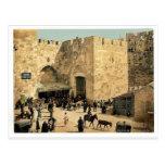 La puerta de Jaffa, Jerusalén, foto de la obra clá Tarjetas Postales
