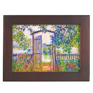 La puerta de jardín en la pintura de Vetheuil Clau Caja De Recuerdos