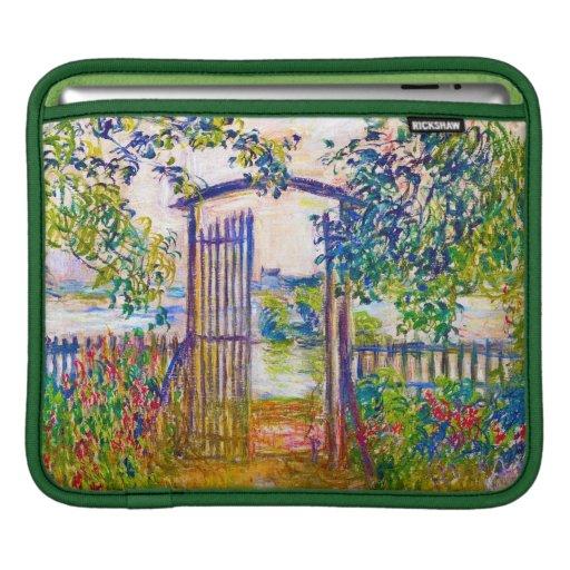 La puerta de jardín en Vetheuil Claude Monet Mangas De iPad