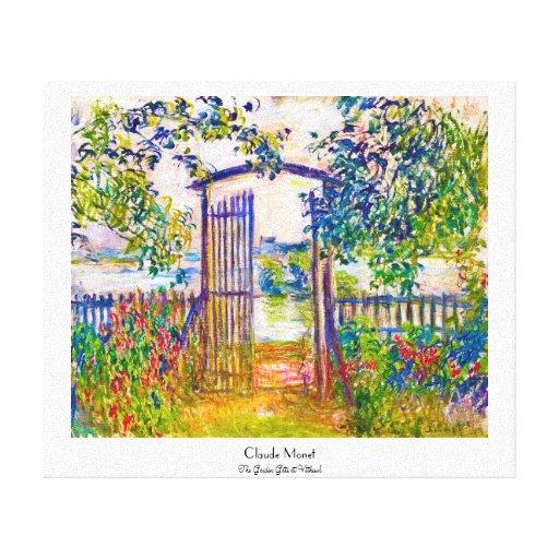 La puerta de jardín en Vetheuil Claude Monet Lona Envuelta Para Galerias