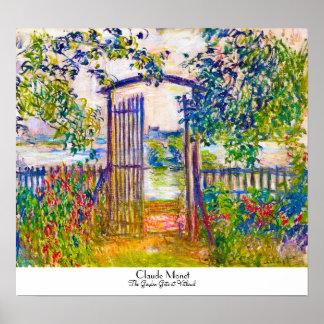 La puerta de jardín en Vetheuil Claude Monet Poster