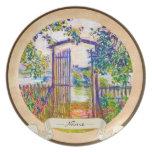 La puerta de jardín en Vetheuil Claude Monet Plato