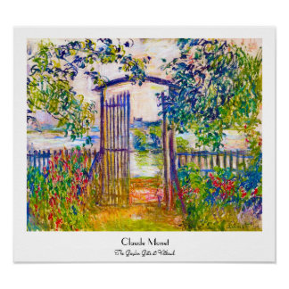 La puerta de jardín en Vetheuil Claude Monet Póster