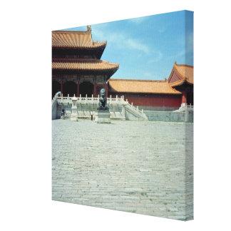 La puerta de la dinastía de Ming suprema de la arm Impresion De Lienzo