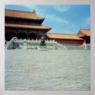 La puerta de la dinastía de Ming suprema de la arm Póster