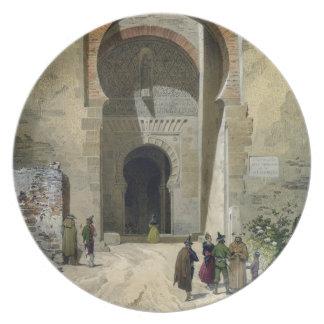 La puerta de la justicia, entrada a Alhambra, Gra Plato Para Fiesta