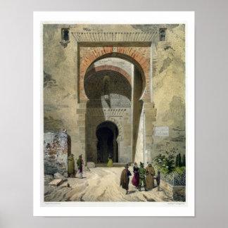 La puerta de la justicia, entrada a Alhambra, Gra Póster
