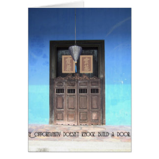 La puerta de la oportunidad tarjeta de felicitación