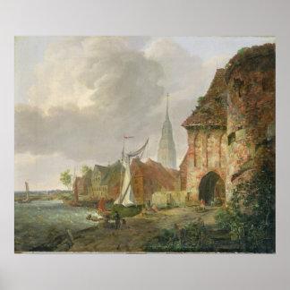 La puerta de marzo en Buxtehude, 1830 Póster