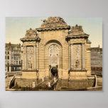 La puerta de París, obra clásica Photochrom de Lil Posters