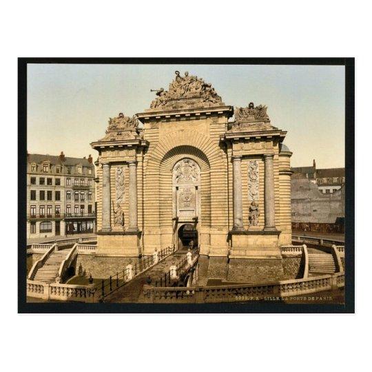 La puerta de París, obra clásica Photochrom de Tarjetas Postales