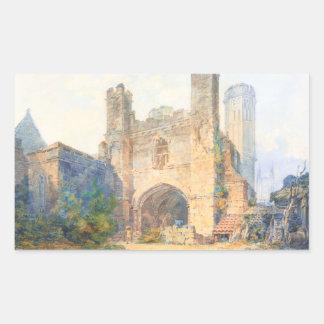 La puerta de St Augustine, Cantorbery Pegatina Rectangular