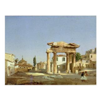 La puerta del ágora en Atenas, 1843 Tarjetas Postales