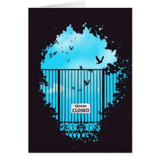 La puerta del cielo tarjeta pequeña