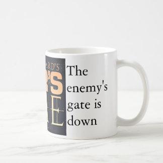 La puerta del enemigo - correcta taza básica blanca